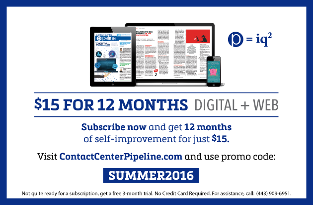 Contact Center Pipeline Magazine